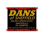 Dans of Sheffield Motorcycle Dealer Decals Transfers DDQ112